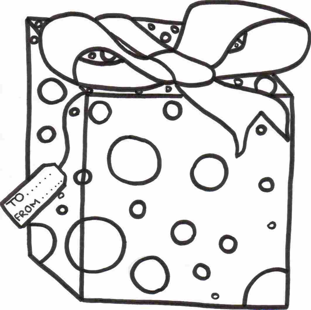 Christmas Gift Coloring Sheet