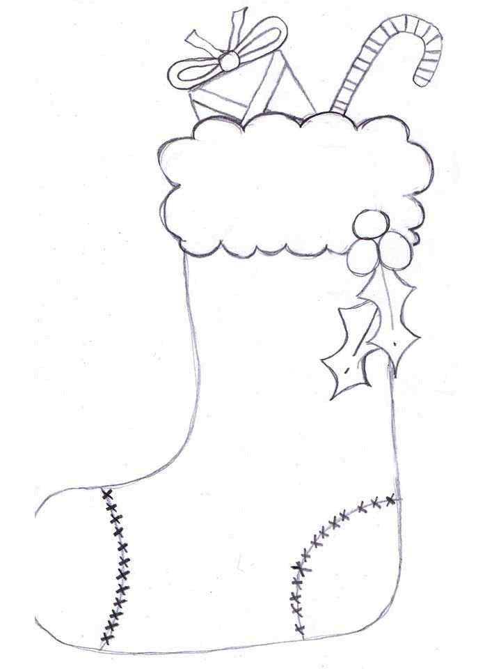 christmas stocking coloring sheet preview