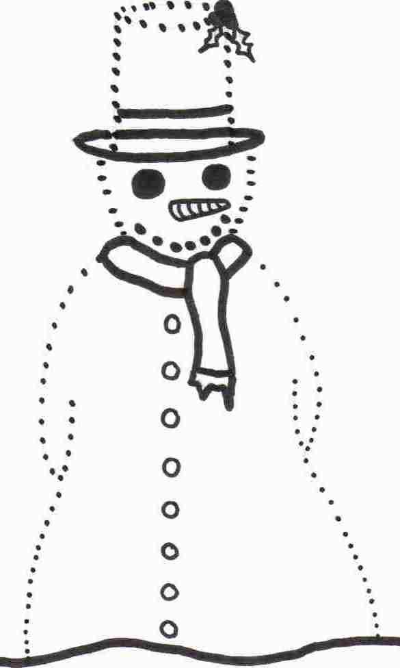 Dot To Dot Snowman