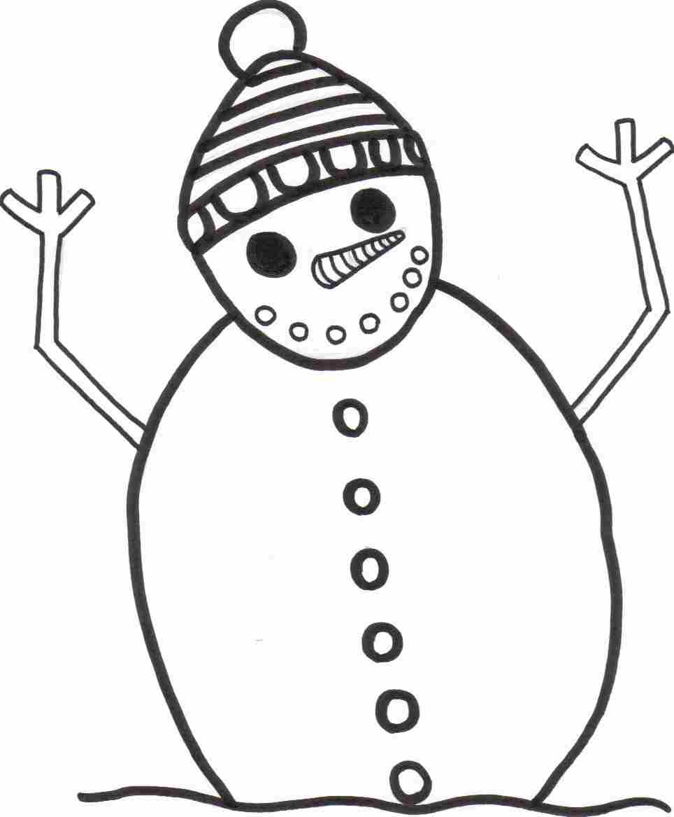 scary snowman coloring sheet